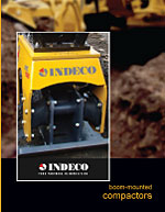 Indeco North America, Indeco North America compactor, plate compactor, tamper, indeco-breakers plate compactor, Indeco compactor, compactor, IHC Series Compactor, boom-mounted compactor, excavator-mounted tractor, vibratory plate compactor, ho-pac, hoe-pac, hydraulic compactor,m